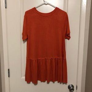 NWOT Orange Blouse